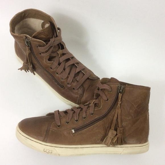 Leather Sneakers Tassel Zip